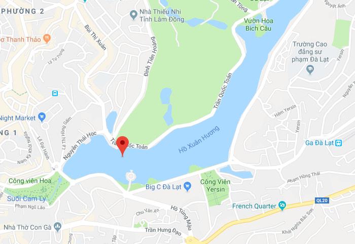 Bản đồ vị trí Hồ Xuân Hương