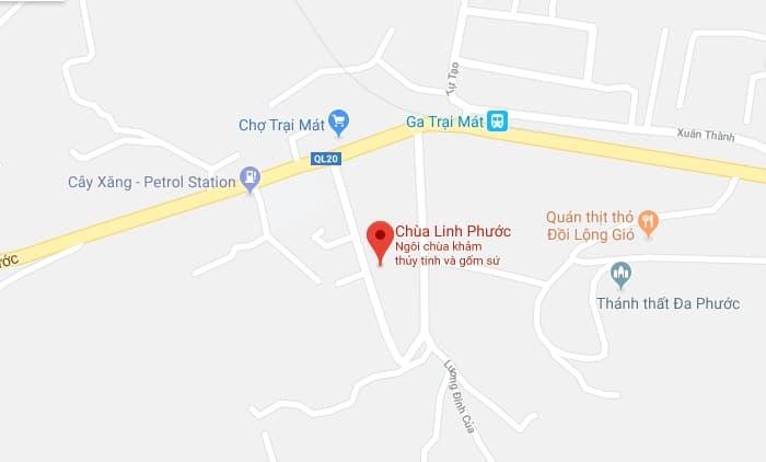 Bản đồ vị trí chùa Ve Chai Đà Lạt