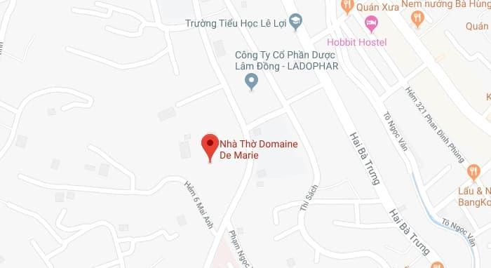 Bản đồ vị trí Nhà thờ Domaine de Marie ở Đà Lạt