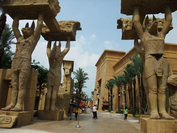 Vùng đất Ai Cập Cổ bên trong Universal Studios Singapore