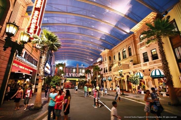 Đại lộ danh vọng bên trong Universal Singapore