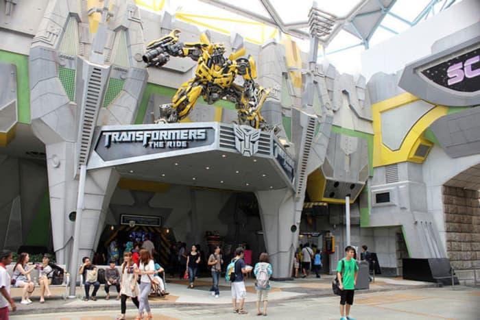 Thành phố khoa học viễn tưởng Sci - Fi bên trong Universal Studios Singapore