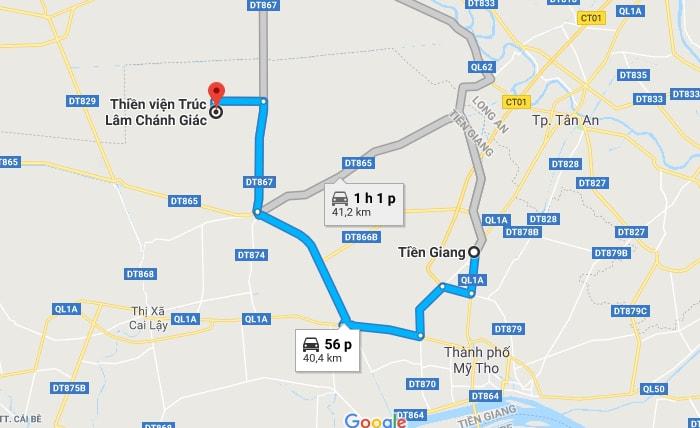 Bản đồ vị trí Thiền viện Trúc Lâm Chánh Giác