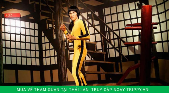 Tượng sáp Lý Tiểu Long bên trong bảo tàng sáp Bangkok