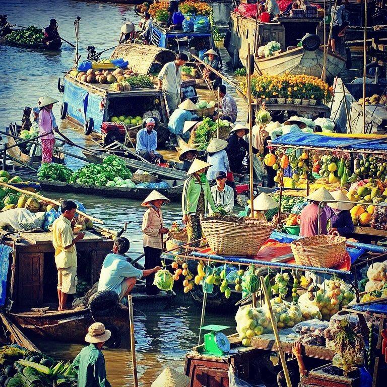 Chợ nổi ở miền Tây: Chợ nổi Ngã Bảy