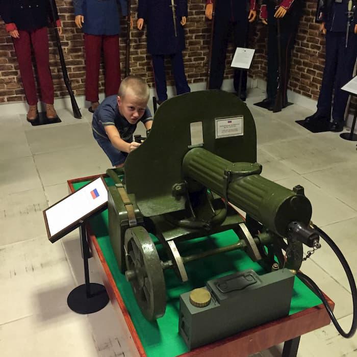 Súng máy Maxim ở bảo tàng vũ khí cổ Vũng Tàu
