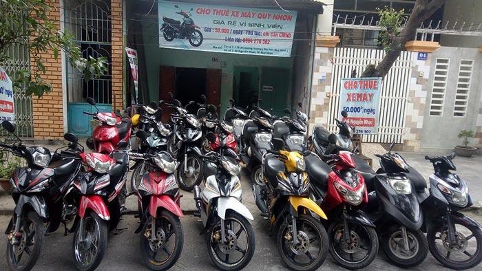 Cho thuê xe máy ở Quy Nhơn Anh Trưởng