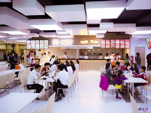 Khu ẩm thực ở Helio Center Đà Nẵng