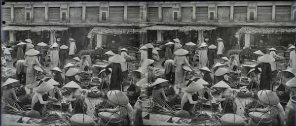Cảnh họp chợ thập niên 1920