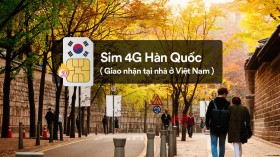 Sim 4G Hàn Quốc (giao tại nhà ở Việt Nam)