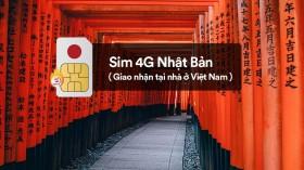SIM 4G Nhật Bản (nhận tại nhà ở Việt Nam)