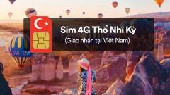 Sim 4G Thổ Nhĩ Kỳ (nhận tại nhà ở Việt Nam)